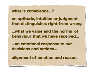 What is one's Conscience?