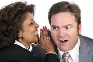 Gossip-mongering people.