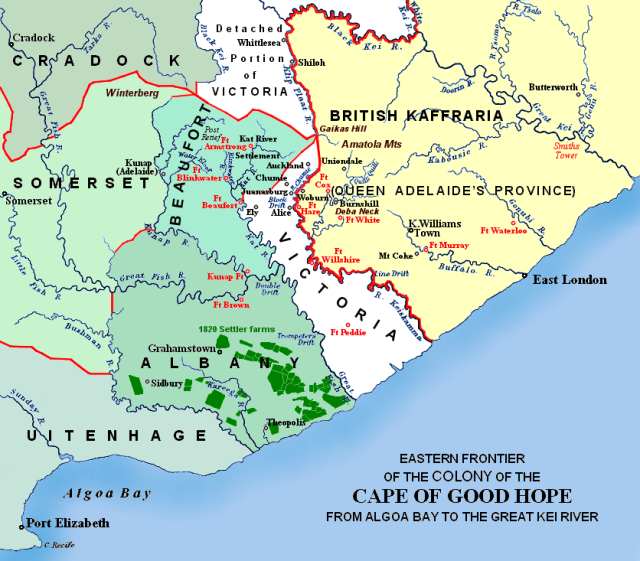 Map of the Cape of Good Hope.