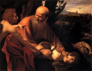 Sacrifices - a part of religious practices to this day. This is a painting by Caravaggio.