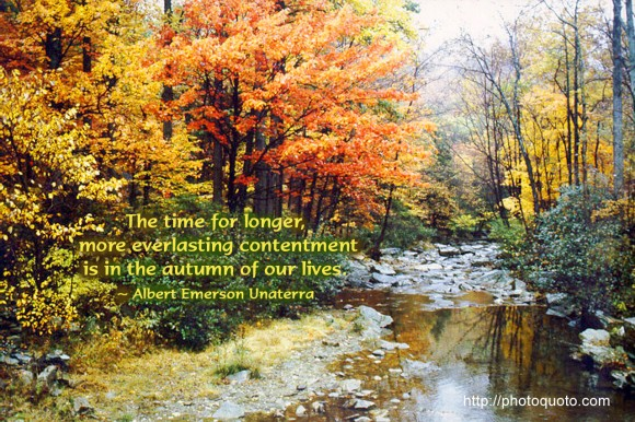 The Autumn of Our Lives