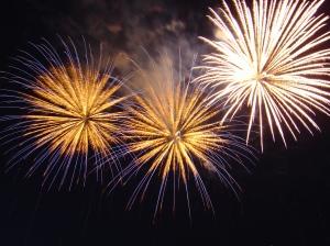 New Year fireworks, Bratislava.