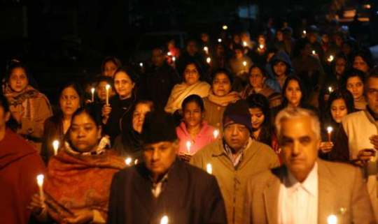 Candle-light vigil for Nirbhaya