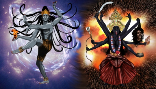 Lord Shiva - the Lord of Dance - destruction and rebirth.