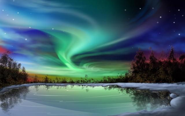 "The ""Northern Lights"" - Aurora Borealis."