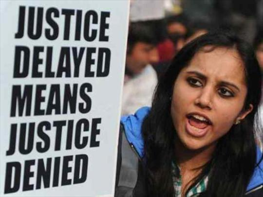 Protest March with slogans.