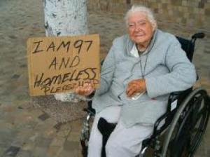 Old and homeless - so sad!