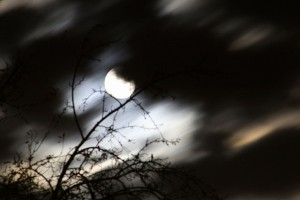 The Moon shrouded in shadow, mystery, darkness and intrigue....