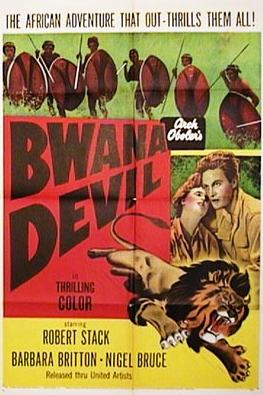 """Bwana Devil"" - the poster of the 1952 film."