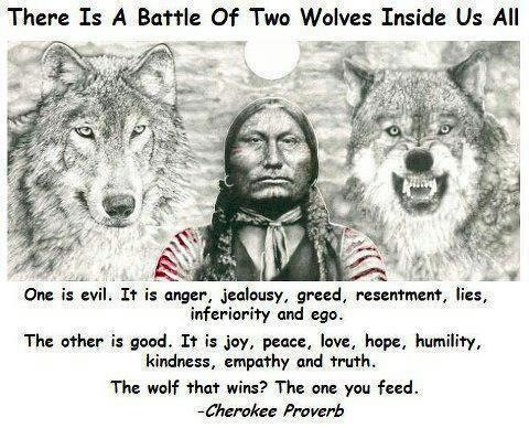 The Cherokee Legend of Two Wolves
