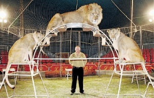 "The Circus Lion Tamer perpetually fears an attack from the lions that he thinks he has ""tamed."""