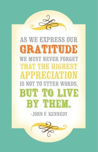 This is appreciation, thankfulness and gratitude. It matters.