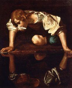 Narcissus by Caravaggio (1594-96)