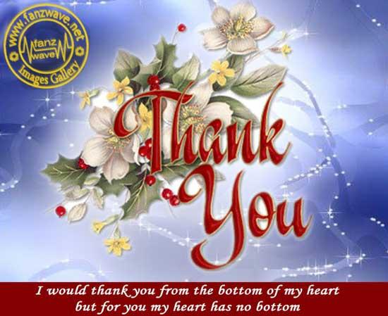 A heart-felt thank you message...that's gratitude!