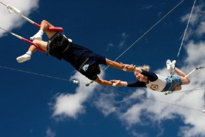 Professional trapeze artists have no safety net below them to break their fall. Yes, they are fearful!