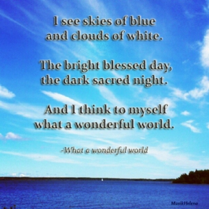 "Lyrics of ""What a Wonderful World"""