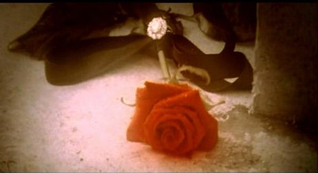 Christine returns the ring that the Phantom had presented to her. When Christine dies many years later, Raoul finds a ring tied to the stem of a rose on Christine's Grave - showing that even in death, Christine was still the true love of the Phantom.