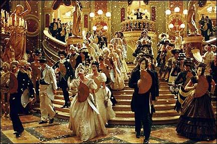 At the Glamorous Masquerade Ball.