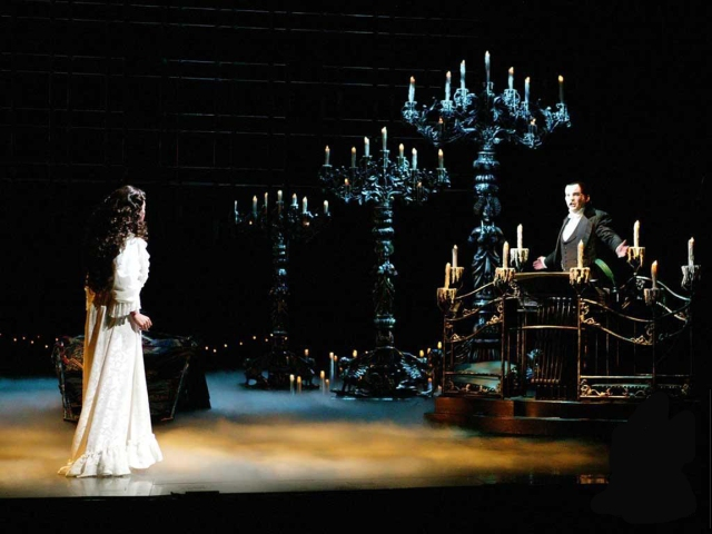 Christine in the Phantom's Lair - far below the Paris Opera House
