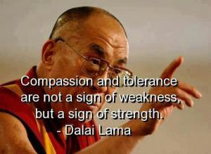 The Dalai Lama's  beautiful quote on compassion and tolerance.