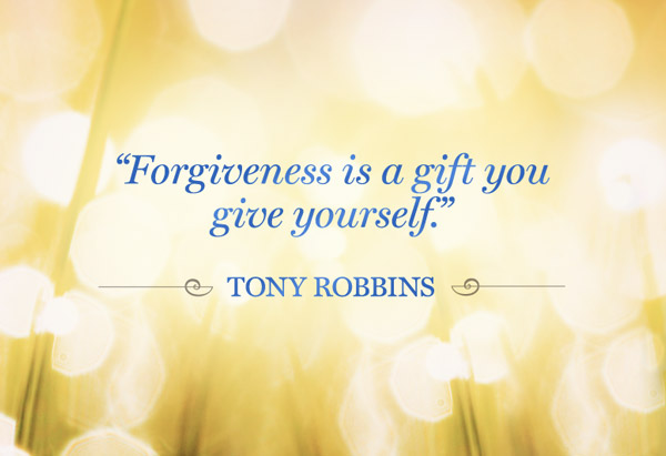 "Forgiveness is vital for one's own Peace of Mind and for being able to ""let go"" and ""move on"" to a brighter and better future."