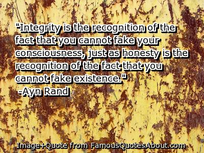 Honor and Integrity tend to be synonymous.