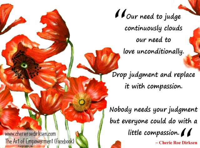 Do not judge others unless you want to be judged yourself!
