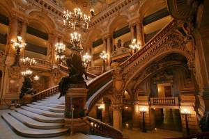 The Paris Opera House - its majestic interiors.