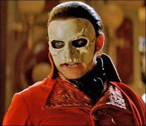 The Phantom appears suddenly in the Masquerade Ball, terrifying all around him.