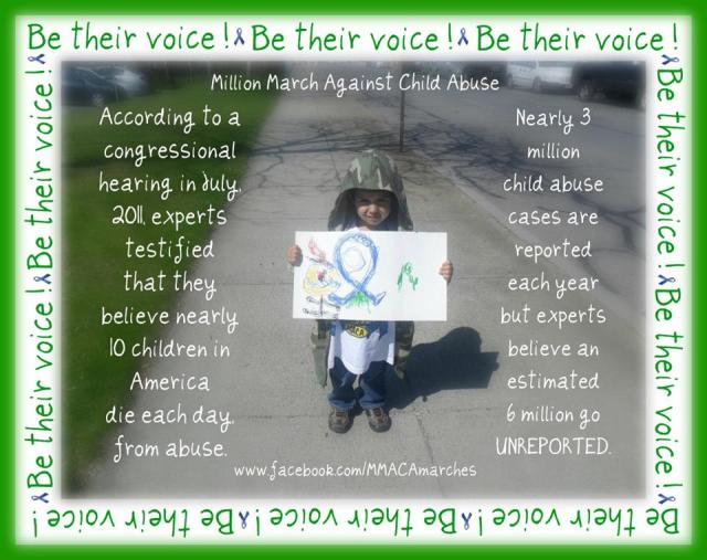 Protest loudly and strongly against Child Abuse. People of the World Unite!