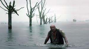 Magwitch - a wanted convict appears suddenly, as a ghostly figure, from the swamp.