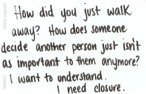 People need closure to feel at peace with themselves, once again.