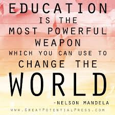 Quote on Education by Mandela.