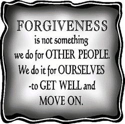 Forgiveness is essential for self - healing.