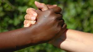 Shake hands with all your fellow-beings, irrespective of caste, class, race or creed -  be there for them, for better of for worse