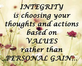 The true meaning of integrity.....