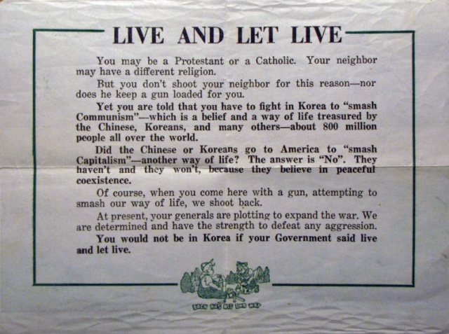 """""""Live and Let Live"""" - it is a universal and irrevocable truth of our times."""