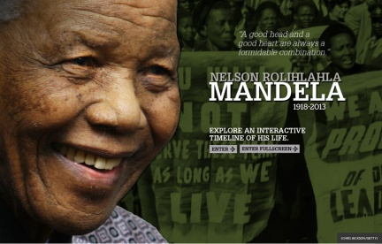 Nelson Mandela - the Hero of the Anti-Apartheid Movement in South Africa.