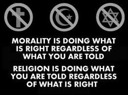 Morality and Religion - a vast difference in thought!