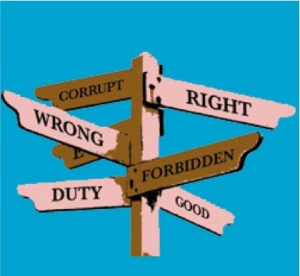 Morality is about having a strong conscience and knowing what is right and wrong.