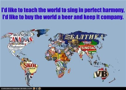 """I""d like to teach the world to sing in Perfect Harmony....."""