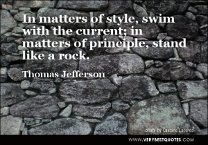 Thomas Jefferson's quote on values, morals and principles.