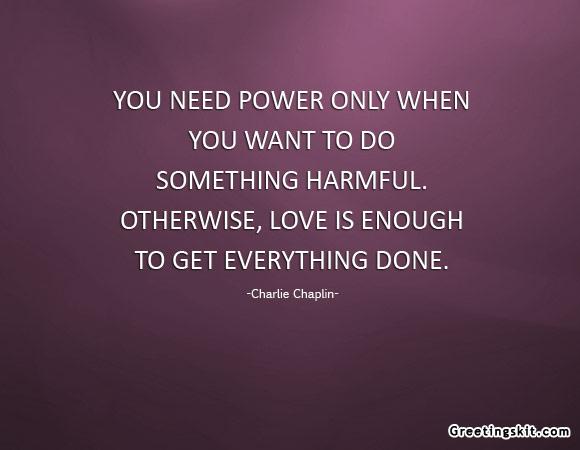 Charlie Chaplin said it best!