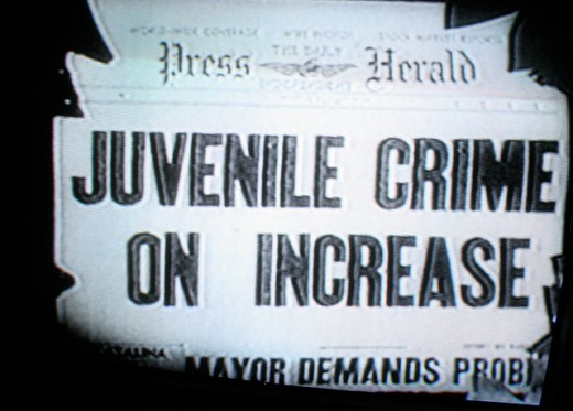 "Headlines in the newspapers - ""Juvenile Crime Increases Daily...."""