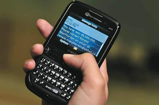 SMS fraud for extorting money....