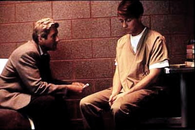 "Vail meets Aaron in prison for the very first time. Vail tells Stampler: ""I am your defense attorney; your mother; your father; your best friend and your priest. You will speak to no one other than me."""