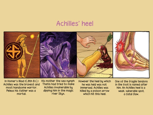 The meaning of Achilles' Heel (Photo Credit: igetitcomics.com)