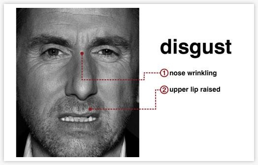 Disgust : facial expressions (Photo Credit: http://readbodylanguage.wordpress.com/2011/05/16/micro-expressions-102-anger-disgust-and-contempt/)