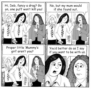 Cartoon  on Teen Peer Pressure