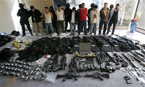 Seizure of illegal, sophisticated weapons from drug cartels.